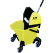 "Bucket c/w 3"" Heavy Duty Castors- Yellow"