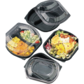 36oz 3 compartment clear lid