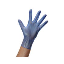 Cgrip vinyl glove medium blue
