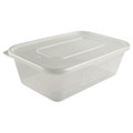 650CC CLEAR MICROWAVEABLE CONTAINER+LID