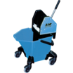 "Bucket c/w 3"" Heavy Duty Castors - Blue"
