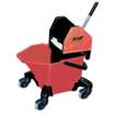 "Bucket c/w 3"" Heavy Duty Castors - Red"