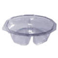 Salad hinge lid 2 compartment container
