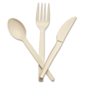 Plant Starch Forks 6.25