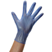 100pack blue vinyl glove med