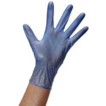PACK 100 VINYL GLOVE BLUE X/L  #