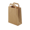 BROWN PAPER CARRIER BAGS W/OUT HANDLE