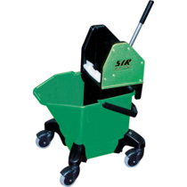 "Bucket c/w 3"" Heavy Duty Castors - Green"