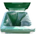Clear heavy duty wheelie bin liner