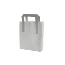 WHITE PAPER BAG W/ HANDLE