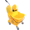 Bison bucket & wringer Yellow 24Ltr